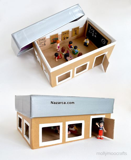 ayakkabi-kutusundan-karton-okul-sinif-maketi