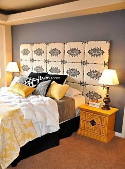 evde-dekoratif-kumas-ve-sungerden-yatak-basi-yapimi