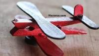 Hobi Çubukları Ve Mandaldan Kolay Oyuncak Uçak Magneti