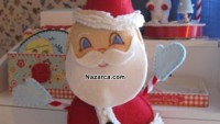 Keçe Oyuncak Noel Baba Dikme