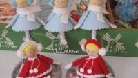 Keçe Minyatür Noel Kız Bebek