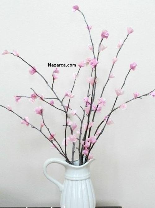 kuru-dallar-krepon-ile-evine-çiçek-dekoru