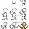maymun-resmi-karikaturu-nasil-ciziliyor