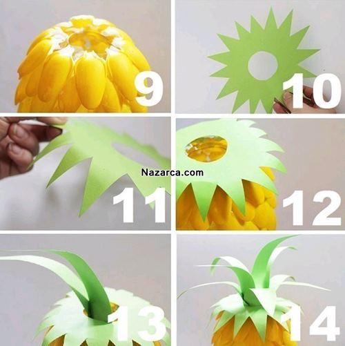 plastik-kasiklardan-ananas-meyvesi-yapma-3