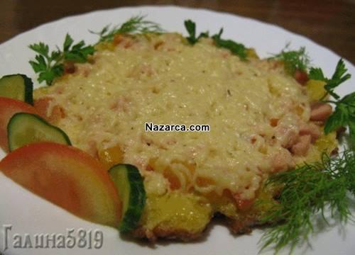 ekmek-ile-yapilan-salamli-omlet