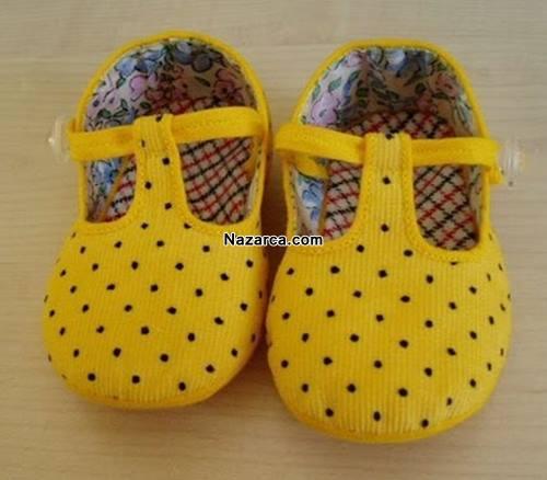 evde-kumastan-bebek-ev-ayakkabisi-yapilisi
