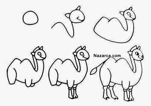 15 tane kolay hayvan karikatürü resim nasil çizilir