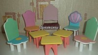 Kontrplak Ahşap Oyuncak Sandalye Tabure Sehpa