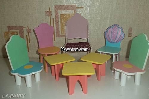 minyatur-mobilyalar-oyuncak-evi-ahsap-sandalyeler-tabureler