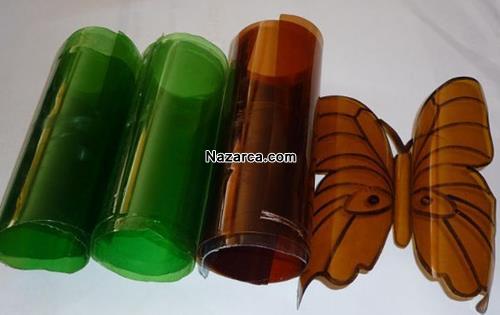 plastik-siselerden-oje-ile-boyanan-cok-guzel-kelebekler-yapmak-2