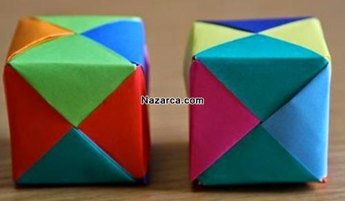renkli-fon-kagitlarindan-origami-kup
