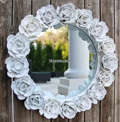 Karton çiçekler Ile Ayna çevresini Süsleme Nazarcacom