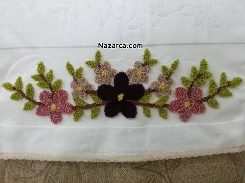 Çiçekli Panç Havlular