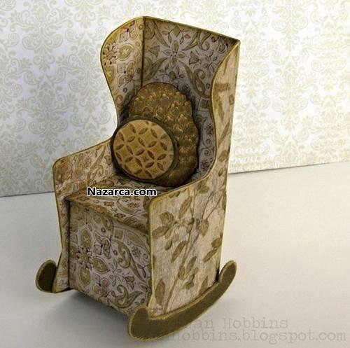 Karton-sallanan-sandalye