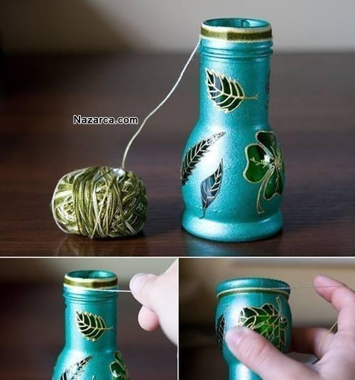 Geri Dönüşüm şişeden Cam Boyama Vazo Yapimi Nazarcacom