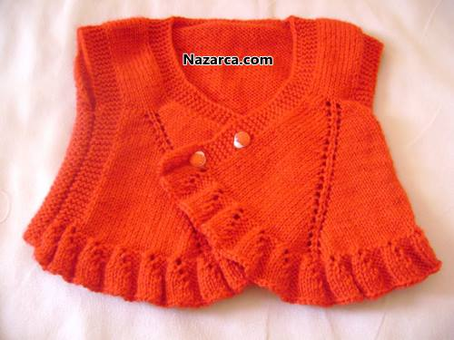 turuncu-renk-satilik-orme-bebek-yelek-ornegi