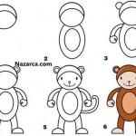 8-rakami-ile-komik-maymun-cizilisi