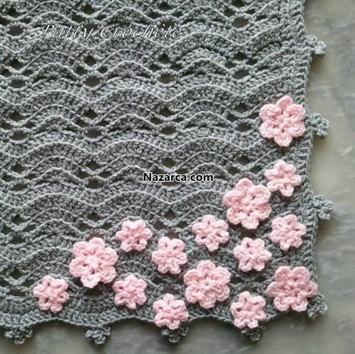 Pretty Crochet Patterns : RES?ML? ANLATIMLI TI?LA ?R?LEN ?RNEK Nazarca.com
