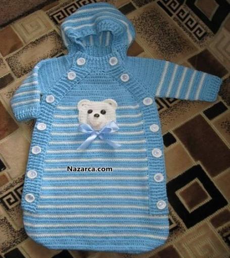 Вязание новорожденному жилетку