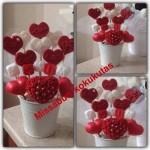 Kalp Sabundan Çiçekler saksı ile beraber 25 lira