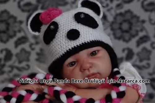 orme-panda-seklinde-bebek-bere-modeli