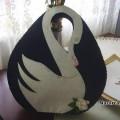 Keçe ile yapılan Oval şık Çanta