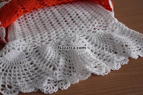 tigla-orulen-turuncu-beyaz-yazlik-orgu-bebek-elsbisesi-2