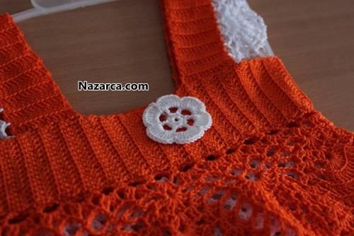 tigla-orulen-turuncu-beyaz-yazlik-orgu-bebek-elsbisesi-3