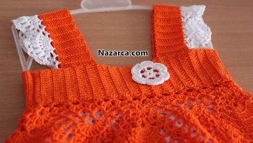 tigla-orulen-turuncu-beyaz-yazlik-orgu-bebek-elsbisesi-5