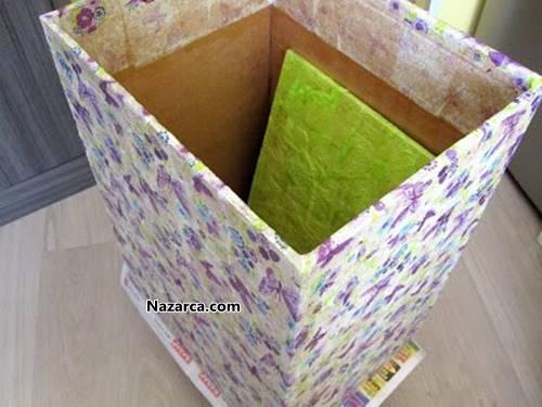 Корзина для белья из картона