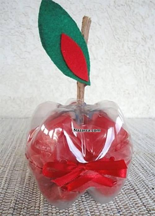 Яблоня из пластиковых бутылок своими руками мастер класс