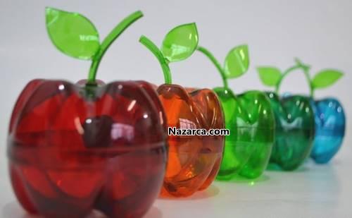 plastik-sise-ile-elma-kaplar