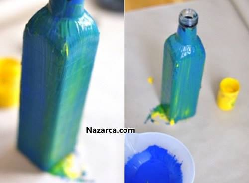 Cam şişe Boyama Teknikleri Nazarcacom