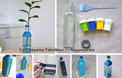 sise-cam-boyamada-basit-teknikler
