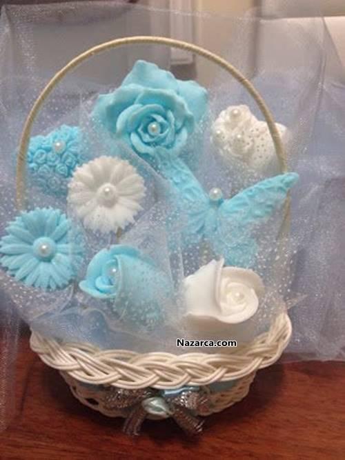 Satılık Kokulu Sabun Çiçek Sepeti