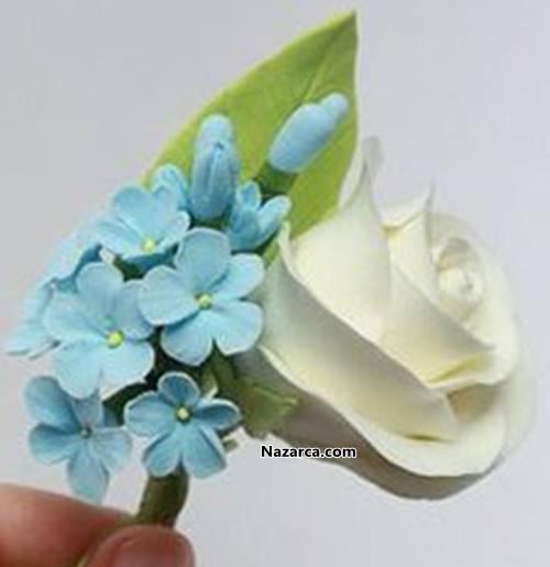 Polimer Kil Fimo Hamuru Ile Yaka çiçeği Gül Yapimi Nazarcacom