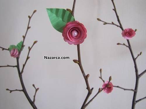 Цветы на веточки своими руками