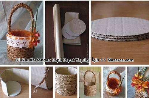 oluklu-kartondan-sapli-dekoratif-sepet-yapilisi