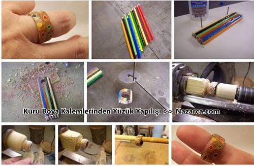 renkli-boya-kalemlerinden-yuzuk-yapma