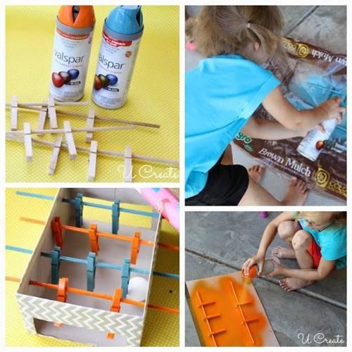 cocuklar-icin-kutudan-ve-mandallardan-mini-langırt-oyuncagi-yapimi