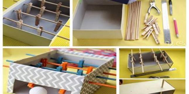 Çocuklar İçin Evde Kolay Oyuncak Mini Langırt Yapılışı