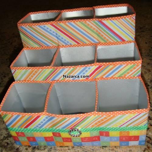 sut-kutularindan-uclu-organizer-kalemlik-yapimi