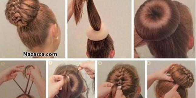 Topuz Süngeri İle Kolay Ve Şık Örgülü Saç Modeli