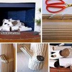 Oluklu-kartondan-dekor-amacli-odunlar