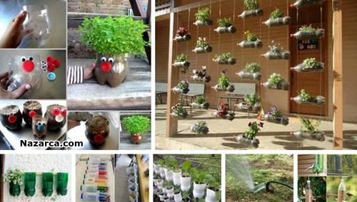 plastik-siseler-ile-bahcelere-dekoratif-fikirler
