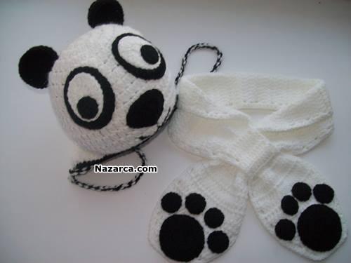 Örgu-bebekler-icin-pandali-atki-bere-takimi-1