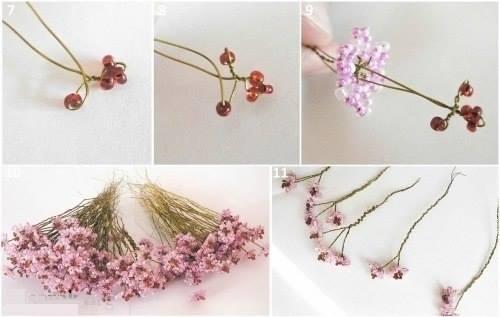 Сакура плетение бисером с цветами