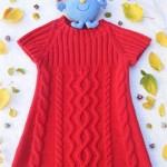 kisa-kollu-yun-orgu-cocuk-elbisesi