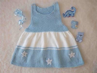 mavi-beyaz-orme-yildizli-bebek-elbisesi