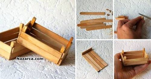 hobi-cubuklaridan-minyatur-ahsap-kasa-yapilisi